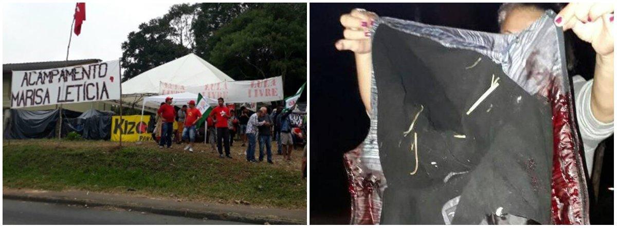 """Jornal dos Frias, que apoiou o golpe, trata o atentado que deixou duas vítimas como uma mera versão do PT com seu """"diz PT""""; veículo estampa uma matéria intitulada""""Ataque a tiros em acampamento pró-Lula em Curitiba deixa dois feridos, diz PT"""""""