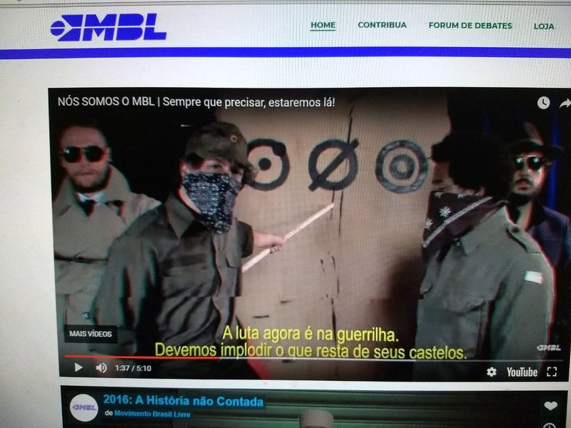 O MBL se constituiu numa célula terrorista de extrema-direita, cujos métodos aplicados para submeter a nação ao seu jugo caminham a passos largos para atentados a bomba e assassinatos de lideranças de esquerda