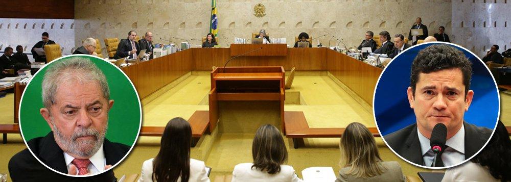 Por 6 votos a 5, o STF decidiu nesta quinta-feira (14) impedir a decretação de conduções coercitivas para levar investigados e réus a interrogatório policial ou judicial em todo o país; a medida foi amplamente utilizada pelo juiz Sérgio Moro na operação Lava Jato, inclusive conta o ex-presidente Lula em março de 2016