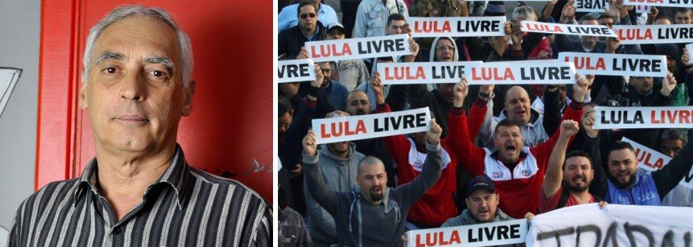 """""""Ninguém pode de sã consciência, independentemente de ser partidário de outra pré-candidatura, contornar a evidência de que a luta pela libertação de Lula e a batalha pela realização de eleições livres, democráticas, legítimas e transparentes são uma e a mesma coisa"""", diz o jornalista José Reinaldo Carvalho"""