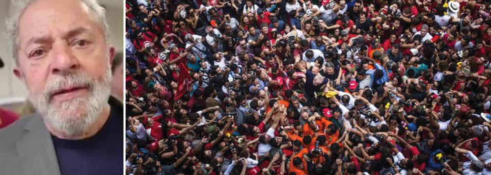 """Pouco depois de ter decidido se apresentar à Polícia Federal para o cumprimento do mandado de prisão política expedido por Sérgio Moro, o ex-presidente explicou em vídeo, divulgado neste domingo, 22, os motivos de sua decisão; """"Eu poderia ter fugido. Eu não quis fugir, porque inocente não corre, enfrenta. E eu quero provar a minha inocência. Se tem político que não tem honra e não se defende, eu tenho muita honra e quero me defender"""", disse; Lula afirmou também que iria para Curitiba para provar que Sergio e o procurador Deltan Dallagnol estão mentindo. """"Eles estão quase como serviçais da Globo. A Globo é que dá veracidade às mentiras que eles contam e eu resolvi enfrentá-los"""""""