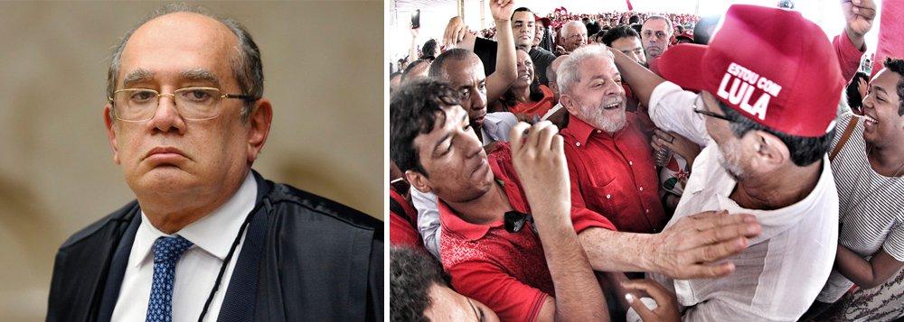 Ministro Gilmar Mendes disse ao jornalista Roberto D' Ávila que acha enigmático que o ex-presidente esteja preso e ao mesmo tempo lidere as pesquisas; na verdade, tudo é muito simples: o povo entende que Lula só está detido para não disputar eleições que ele venceria com facilidade