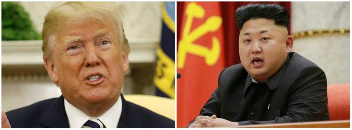 """O presidente dos EUA, Donald Trump, disse esperar que mais pessoas """"prestem atenção"""" nele, assim como norte-coreanos fazem com seu líder, Kim Jong Un, o que gerou críticas instantâneas nas redes sociais e em canais de notícias;Kim é suspeito de ter ordenado o assassinado de seu meio-irmão e a execução de seu tio; investigações da ONU também relataram violações de direitos humanos"""