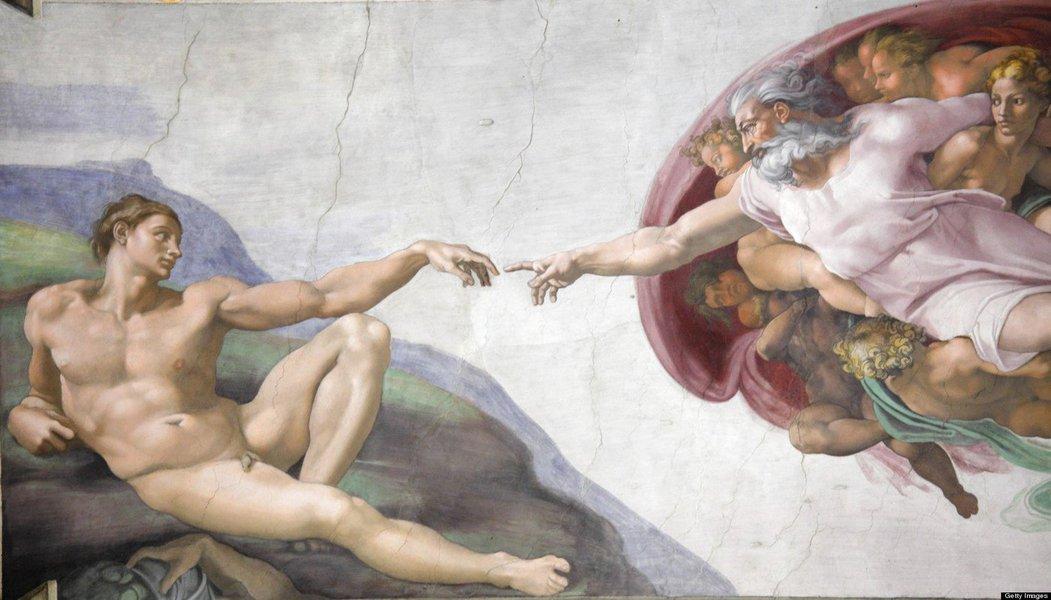 Criação de Adão, Capela Sistina, Michelangelo