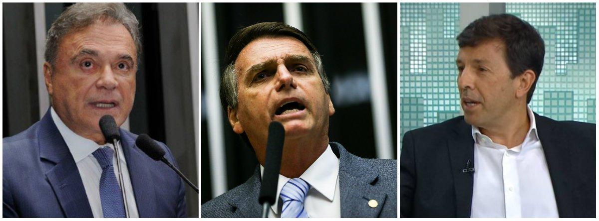 """Álvaro Dias (Podemos-PR) afirmou ser """"a favor da flexibilização da legislação atual""""; segundo Jair Bolsonaro (PSL-RJ), """"tem que abrir para o maior número de pessoas ter porte de armas""""; João Amoedo (Partido Novo) defendeu que """"o cidadão deve ser livres para poder se defender"""""""