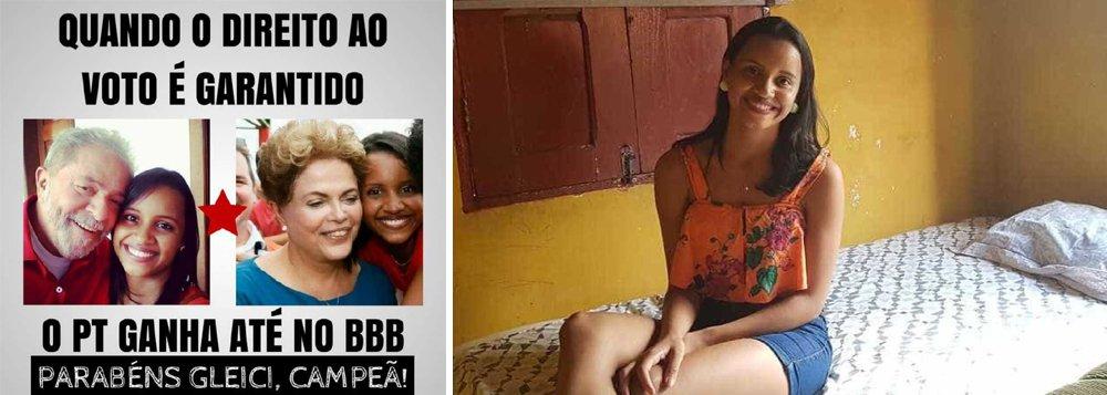 """A vencedora do Reality Show Big Brother Brasil, produzido e veiculado pela Rede Globo, gritou """"Lula Livre"""" ao se reencontrar com a família; acreana, Gleici Damasceno é militante de direitos humanos e foi avisada da prisão de Lula pelo seu irmão no momento de reencontro com a família"""