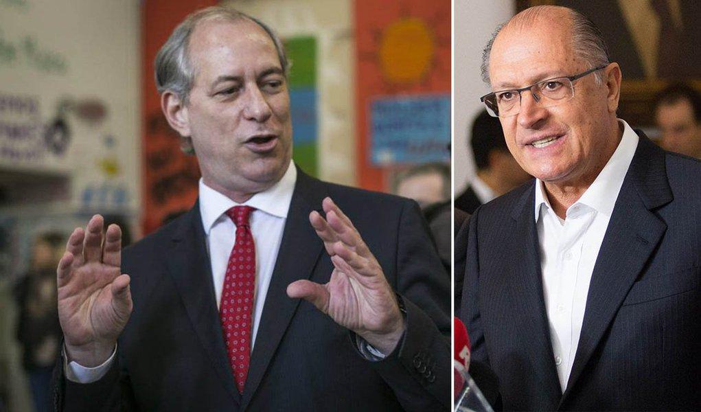 Defensores da candidatura de Geraldo Alckmin ao Planalto estão apavorados com a possibilidade de o presidenciável Ciro Gomes fechar uma aliança com DEM e PP que lhe garanta um tempo razoável de propaganda eleitoral na TV