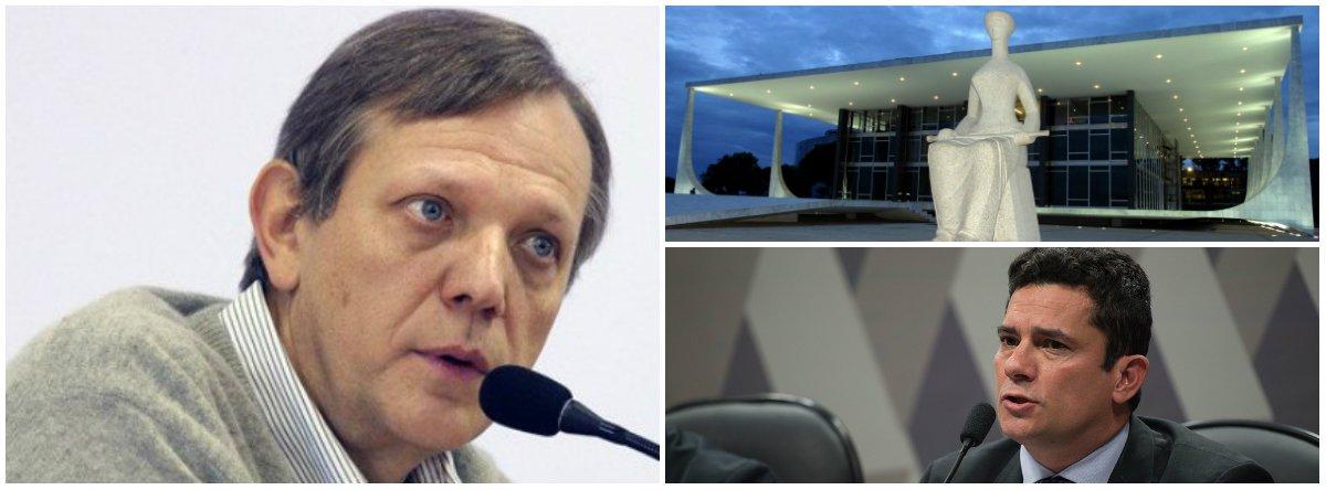 """Professor e sociólogo André Singer """"decisão do STF de declarar ilegal a condução coercitiva """"nem de longe elimina os mecanismos de exceção presentes nesta etapa de ameaça generalizada à democracia no Brasil. Representa, porém, um bem-vindo sinal de que o Estado de Direito resiste"""""""