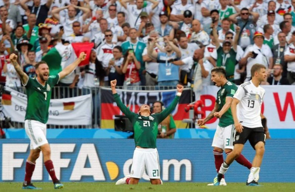 A seleção do México fez história neste domingo (17) ao derrotar a poderosa Alemanha na estreia das duas equipes na Copa do Mundo da Rússia, em sua primeira vitória sobre os atuais campeões do mundo em uma partida oficial em toda a história