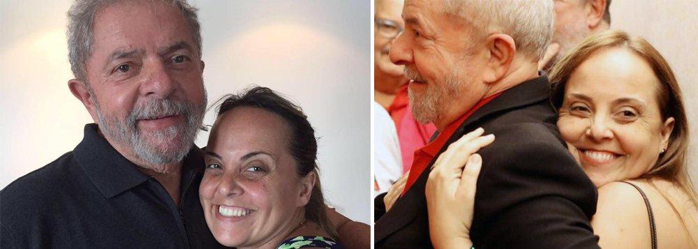 """Lurian Cordeiro da Silva, 44 anos, primogênita do ex-presidente Lula, diz que meso preso sem provas em uma cela da PF em Curitiba, ele permanece firme; """"Ele é surpreendente, porque a gente chega lá e ele não esmorece. Ele está bem, tem lido, assistido jogos de futebol... Eu acho que quando a pessoa tem certeza da inocência, mesmo sofrendo uma grande injustiça, ele fica tranquilo. Indignado, mas firme"""", disse; para ela, a luta pela democracia deve continuar; """"A gente não pode desistir"""", ressaltou"""