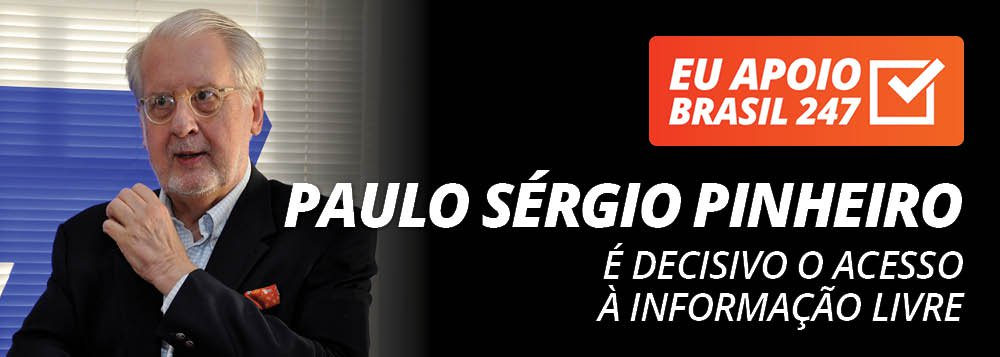 """O cientista político e professor Paulo Sérgio Pinheiro apoia a campanha de assinaturas solidárias do 247. Para ele, """"nesse momento grave que a democracia brasileira está enfrentando, é decisivo que nós tenhamos acesso a uma informação livre""""; assista ao seu vídeo de apoio"""