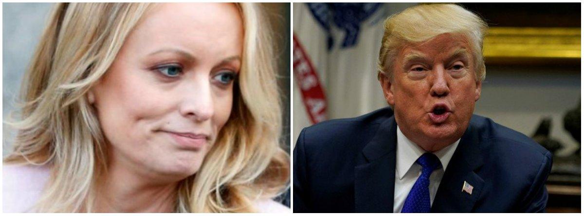 A atriz pornô Stormy Daniels apresentou nesta segunda-feira uma ação acusando o presidente dos Estados Unidos, Donald Trump, de difamação por causa de um tuíte insinuando que ela inventou um incidente durante o qual ela diz ter sido alertada a não falar de um suposto encontro sexual com Trump