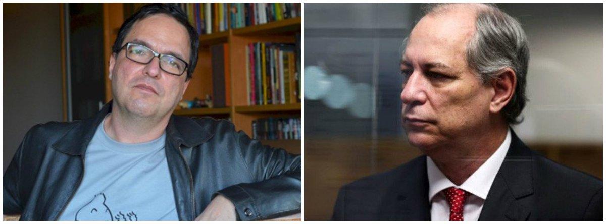 """""""Acho muito improvável que Ciro se disponha a uma conversa séria com a esquerda. Para mim, sua estratégia é apostar nessa ambiguidade e com ela chegar no segundo turno contra alguém como Alckmin ou Bolsonaro, quando o apoio da esquerda virá de graça. Vai dar certo? Não sei. Os planos infalíveis de Ciro Gomes costumam ter o mesmo destino daqueles do Cebolinha"""", diz o cientista político Luis Felipe Miguel"""