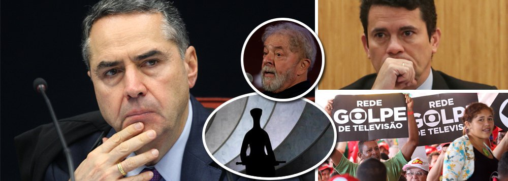 O GloboeValor Econômico, jornaisda família Marinho, abriram duas páginas para o ministroLuís Roberto Barroso, do STF, com o objetivo de salvar Sérgio Moro da vala de descrédito em que ele e a Lava Jato se enfiaram e pressionar o Supremo para que não liberte Lula no próximo dia 26; é uma situação curiosa na qual ministro da suprema corte torna-se porta-voz de um juiz de primeira instância sob patrocínio do grande oligopólio de comunicação do país