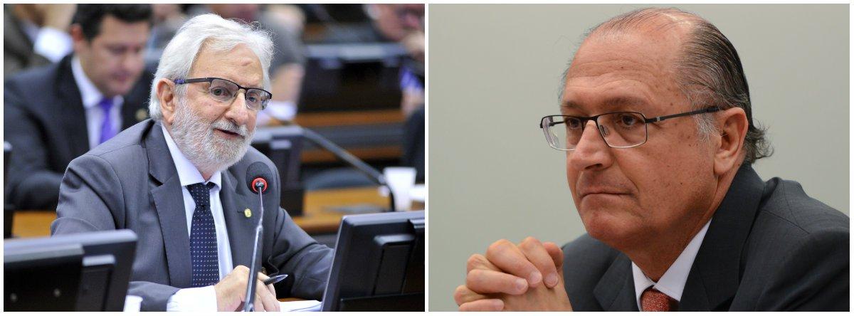 """""""Alckmin é muito cara de pau. Em entrevista ao Estadão diz: """"governo Temer não tem legitimidade pq não teve voto"""". Sim, Alckmin, o que sempre dissemos, mas o tucano só """"esquece"""" de dizer que foi um golpista de primeira hora, um dos responsáveis por Temer assumir a presidência"""", disse o deputado do Psol-SP"""
