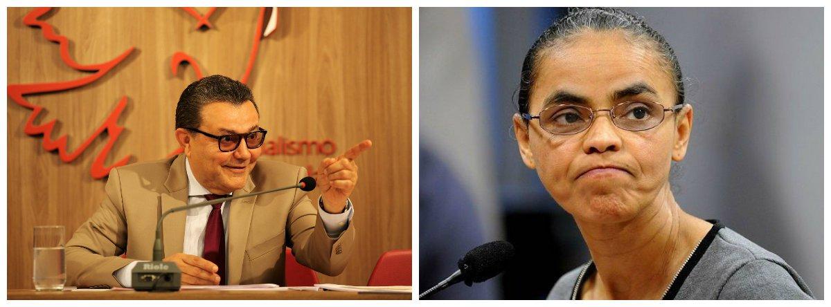 Presidente nacional do PSB, Carlos Siqueira, e ex-senadora Marina Silva (Rede) .2