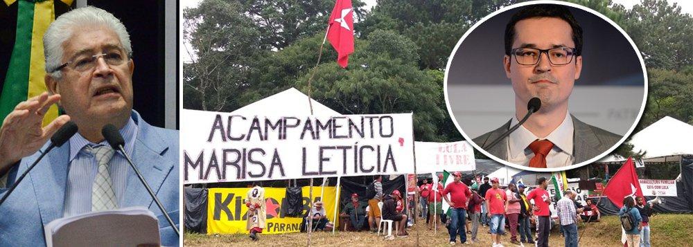 """Senador do Paranáresponsabiliza o discurso criado pela Lava Jato para o clima de ódio e perseguição contra movimentos sociais e o PT no Brasil, que resultou no atentado a tiros contra o acampamento em defesa de Lula em Curitiba e antes contra a caravana do ex-presidente; segundo ele, porém, o que """"os procuradores e a operação de Sergio Moro não percebem"""" é que """"esses atentados têm mão dupla""""; """"Hoje pode atingir o acampamento, mas amanhã pode atingir os seus promotores"""", alerta; """"A irresponsabilidade desses meninos pode levar o Brasil a uma guerra civil"""", alerta; assista"""