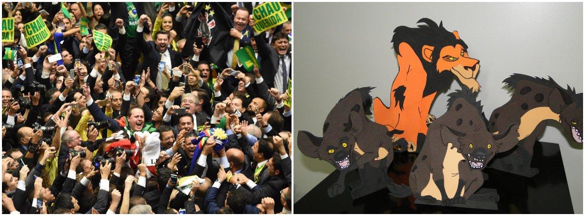 """""""Naquela noite, minha filha de 11 anos entendeu minha profunda tristeza pelo sequestro do futuro do Brasil. Entendeu que a covardia, a maldade e a traição não beneficiam nem mesmo ao traidor.Inacreditavelmente, alguns homens de 50 anos ainda não entenderam. E como as hienas de O Rei Leão, riem, entre alienados e arrependidos"""", escreve a jornalista e colunista do 247 Lúcia Helena Issa"""