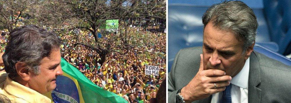 """""""A derrocada do PSDB era a consequência lógica de uma sanha moralista promovida por forças políticas que há décadas se alimentam do mesmo sistema que hoje apodrece a céu aberto. Aécio apostava na hipocrisia e na crença de que receberia um tratamento diferenciado por parte dos meios de comunicação e do Poder Judiciário – o que, embora verdadeiro, não lhe garantiu a blindagem absoluta. Desmoralizado, ele dificilmente conseguirá disputar a reeleição para o Senado e até mesmo uma eleição para deputado hoje parece arriscada"""", diz o jornalista Leonardo Attuch, editor do 247"""
