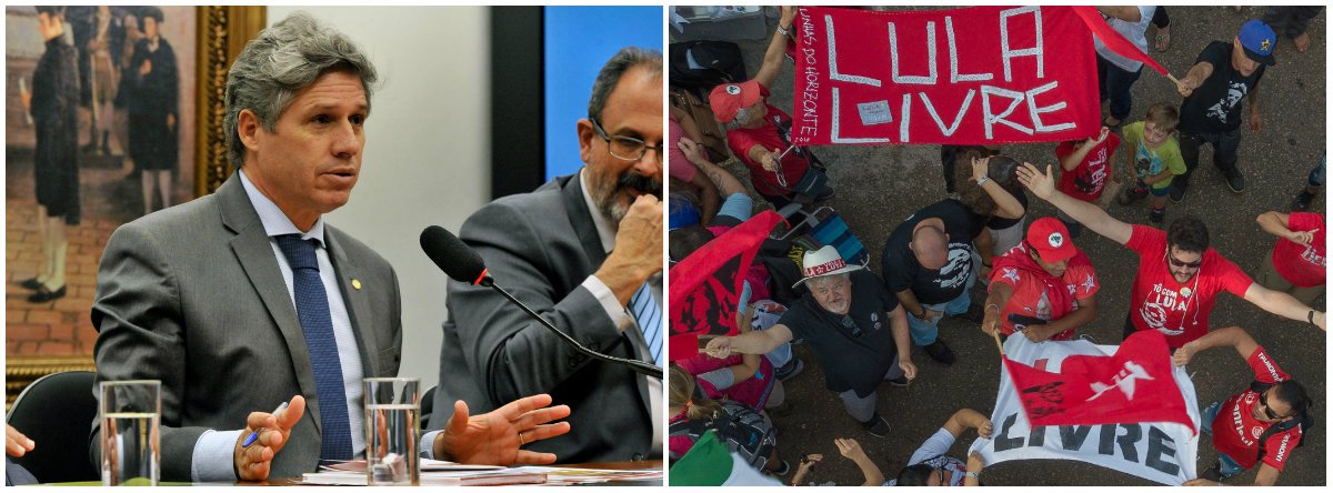 """Deputado federal Paulo Teixeira (PT-SP) também afirma que a """"esperança vai vencer a injustiça e a perseguição. Agora éa vez de todos os trabalhadores e trabalhadoras se unirem em defesa da democracia e de Lula"""";""""De que lado da história você está? Vai ter luta sim. Não sairemos do lado de Lula"""""""