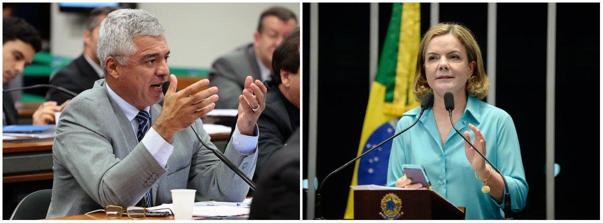 Deputado Major Olímpico (PSL-RJ) protocolou na PGR uma ação contra a presidente nacional do PT, senadora Gleisi Hoffmann (PR); segundo o correligionário de Jair Bolsonaro (RJ), a parlamentar atentou contra a soberania nacional ao pedir apoio ao ex-presidente Lula pela televisão árabe Al Jazeera; para ele, a senadora pediu ajuda de terroristas