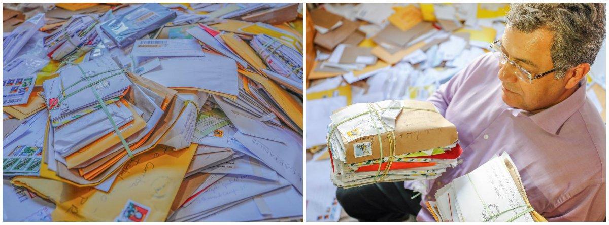 A quantidade de cartas é tão grande que a Superintendência da PF em Curitiba já não dá conta de receber e, a partir de agora, o envio deve ser centralizado na sede do Instituto Lula, em São Paulo, onde o ex-presidente confia de que serão recebidas