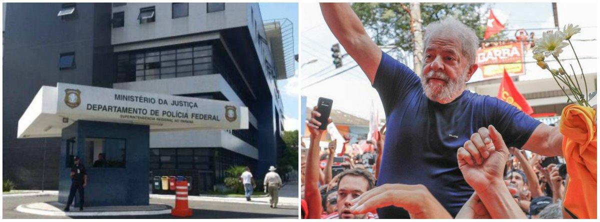 """A juíza federal Carolina Lebbos rejeitou os pedidos de sindicalistas para visitar o ex-presidente Lula na Superintendência da PF em Curitiba; o grupo, formado por líderes de seis centrais sindicais, solicitou um encontro com Lula para a quarta-feira (2) """"na qualidade de representantes de centrais sindicais e amigos do executado"""""""