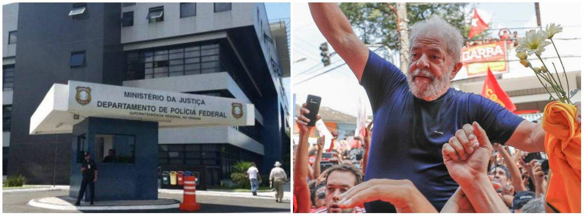 """A Superintendência da PF de Curitiba pediu à Justiça a transferência do ex-presidente Lula para """"um estabelecimento prisional adequado para o cumprimento da pena imposta""""; em ofício """"urgente"""" endereçado à juíza Carolina Lebbos, policiais dizem que os transtornos causados pela presença do ex-presidente na carceragem da PF são inúmeros e os gastos para mantê-lo, muito altos"""
