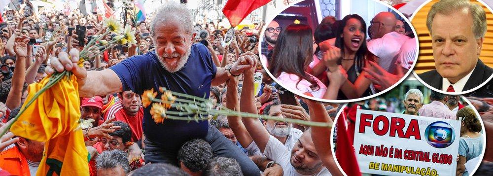 """Embora tenha conseguido sequestrar o Poder Judiciário para levar adiante seu projeto de golpear a democracia e pender o ex-presidente Lula, a TV Globo não consegue aprisionar o que os brasileiros pensam e, muitas vezes, gritam; dois casos recentes provam isso: a vencedora do programa Big Brother Brasil (BBB), Gleisi Damasceno, do Acre, gritou """"Lula livre"""" ao vivo quando deixou a casa e o apresentador da emissora Chico Pinheiro teve um áudio vazado em que ele demonstra solidariedade a Lula e faz críticas a Sergio Moro e à própria cobertura da Globo"""
