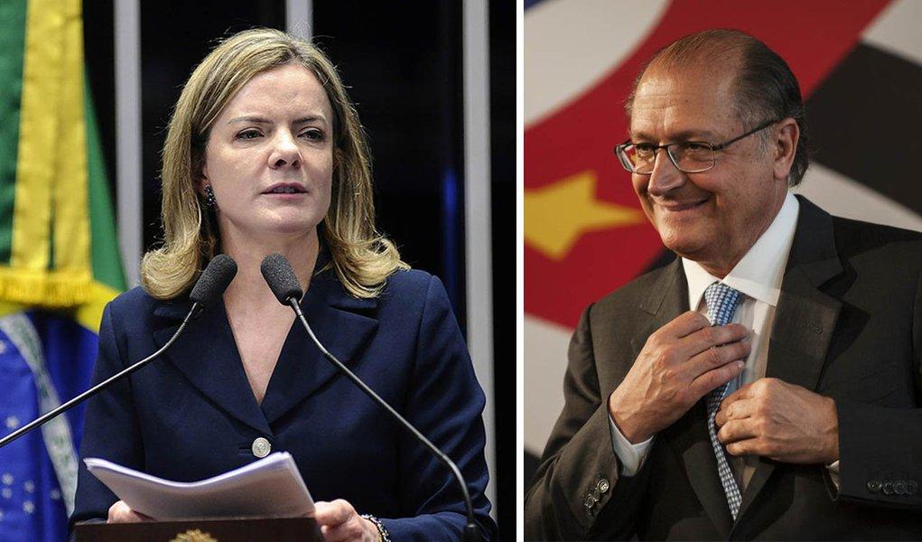 """Em discurso no Senado, senadora ataca política neoliberal de Temer e dos tucanos;""""Não vão ter candidato competitivo. O Alckmin não vai a lugar nenhum, a menos que dê (novo) golpe. Uma eleição se faz com o povo, e o povo não quer a política neoliberal"""""""
