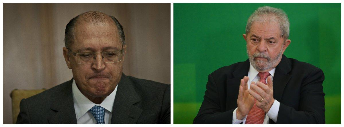Governador de São Paulo, Geraldo Alckmin (PSDB) e ex-presidente Luiz Inácio Lula da Silva