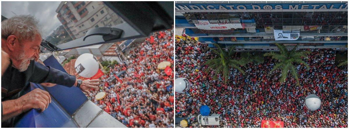 """""""É claro que a Folha tem todo o direito de publicar a manchete que bem entender com base na pesquisa do Datafolha, que é da mesma empresa, mas a escolha por 'Preso, Lula perde votos' foi uma forma que o jornal encontrou de confundir seus leitores e falsear a realidade"""", avalia o jornalista Alex Solnik; """"A pesquisa manda três recados para Moro, TRF-4, STF e detratores de Lula: 1) os brasileiros não acreditam que Lula tenha cometido crime; 2) Lula, preso, é mais presidente que os outros soltos e 3) não adianta prender Lula para impedi-lo de ser o próximo presidente, tem que prender seus eleitores"""", diz ele"""