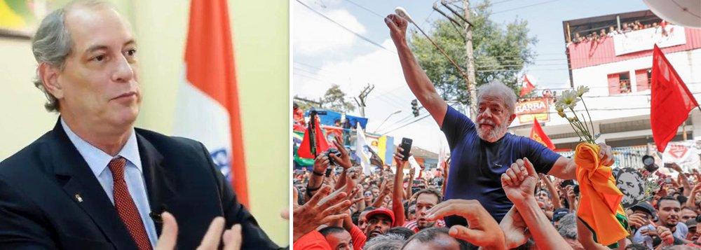 """Para o jornalista Fernando Brito, é preciso examinar o que o gesto de Ciro Gomes em querer visitar o ex-presidente Lula contém; """"E a primeira constatação é que ele aceita, com isso, que Lula tem o papel referencial incontestável na mente da população. Em outras palavras, é impossível que uma candidatura tenha ares de centro-esquerda – e mais ainda, esse conteúdo – sem que assuma uma posição de solidariedade a Lula"""", diz ele"""