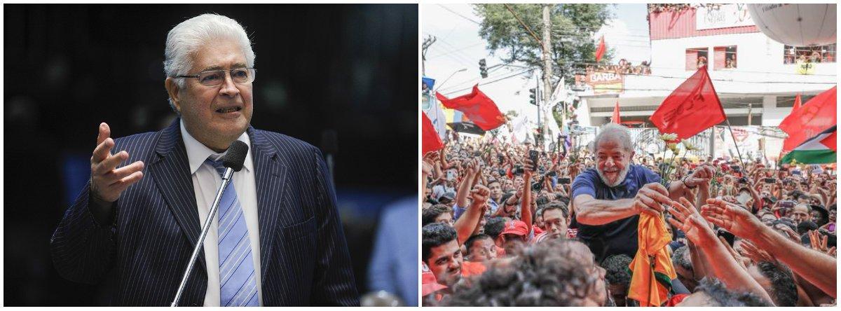"""Em vídeo, o senador Roberto Requião (MDB-PR) afirma ser necessáriocompreender que o encarceramento de Lula """"é apenas um capitulo a mais da trama para destruir o Brasil e submeter os brasileiros""""; """"A Petrobrás está sendo desmantelada, sucateada e vendida. O petróleo do pré-sal, nossa maior riqueza, está sendo doado quase de graça para os estrangeiros"""", diz; segundo parlamentar, """"aindústria brasileira está em vias de desaparecimento. Tudo está à venda, inclusive as nossas terras. O espaço aéreo já foi cedido. E agora querem vender até a nossa água""""; assista"""