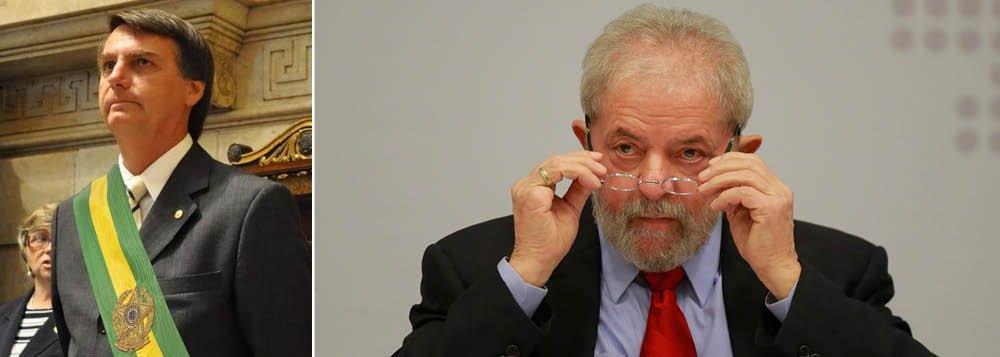 """O ex-presidente Lula já avisou que não vai bater em Jair Bolsonaro, apesar das provocações feitas pelo deputado de extrema-direita; """"Aos que não entendem isso de não bater no seu maior adversário, o único que é páreo para ele, aquele apontado pelas pesquisas para disputar o segundo turno contra ele, Lula explica: 'Vou deixar que os outros candidatos e a imprensa façam isso por mim'"""", detalha o colunista Alex Solnik; """"Bolsonaro sabe que já chegou ao teto nas pesquisas de intenção de votos, precisa bater boca com Lula para tirar os dele. Lula também sabe. Bolsonaro pode tirar o seu cavalinho da chuva"""", completa"""