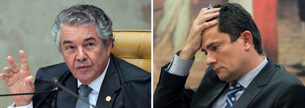 """Em entrevista à rádio Fan FM, Marco Aurélio Mello reforçou a crítica feita esta semana ao juíz Sérgio Moro, que fez """"recomendações"""" aos ministros do STF em relação ao julgamento da prisão depois de condenação em segunda instância. """"Um juíz de 1ª instância ao invés de cuidar de sua vara, fica mandando recado para ministro. Eu só posso atribuir isto, aos tempos estranhos que estamos vivendo"""", enfatizou"""
