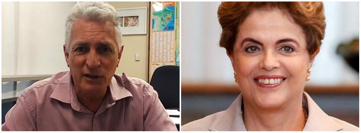 """O deputado estadual Rogério Correia (PT) prestou solidariedade à presidente deposta pelo golpe, Dilma Rousseff, que disputará uma vaga no Senado por Minas Gerais; """"Precisamos dar à presidenta legítima uma votação consagradora. Principalmente porque ela entrará na vaga deixada por Aécio Neves, o que tem importante carga simbólica. O Mineirinho da Odebrecht está tendo dificuldades até no seu PSDB, pois ninguém quer vê-lo por perto"""", disse"""