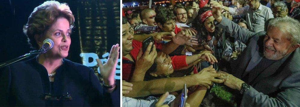 """Durante lançamento do """"A verdade vai ganhar"""", do ex-presidente Lula, em feira do livro em Buenos Aires, a presidente legítima e deposta Dilma Rousseff afirmou que Lula é vítima de prisão política e que ele retornará à Presidência da República, mesmo preso; """"Lula, mesmo agora prisioneiro político, por ser prisioneiro político, encontra força no relacionamento com o povo brasileiro"""", disse Dilma; """"Uma das razões pelas quais Lula foi preso é que ele fala muito e fala criticamente.Eles punem o fato de que somos pessoas eminentemente sociais"""", afirmou; para Dilma, atrás dos ataques contra ela e Lula, está """"o grande monstro da escravidão"""" e o ódio de que os negros possam entrar nas universidades"""