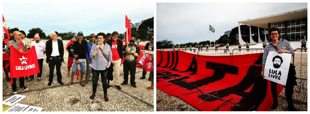 A deputada catalã Natalia Dipp está no Brasil participandode ações solidárias no movimento campesino e pela liberdade de Lula; a cada dia cresce o apoio de intelectuais,escritores, juristas, políticos, professores, entre outros, participando de atos em defesa do ex-presidente no Brasil e no exterior