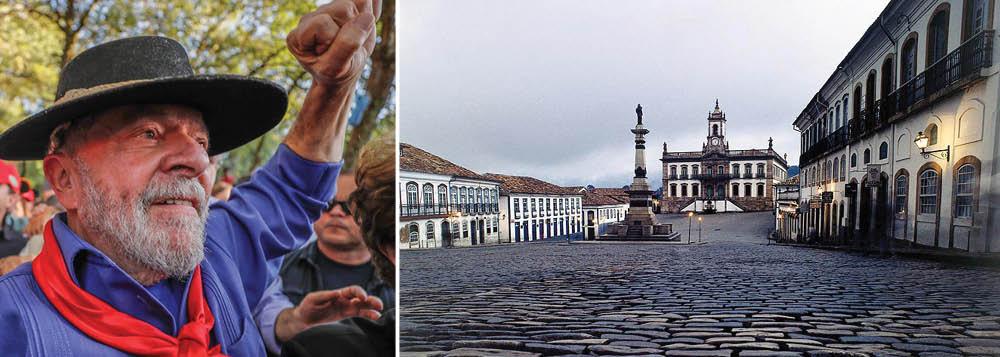 A cidade de Ouro Preto protagoniza na manhã deste sábado, 21, ato pela liberdade do ex-presidente Lula; cidade realiza anualmente nesta data, em homenagem ao mártir Tiradentes, a cerimônia de entrega da Medalha da Inconfidência; este ano dos premiados será Adolfo Pérez Esquivel, prêmio Nobel da Paz de 1980 e ativista de direitos humanos que foi recentemente proibido de visitar Lula na prisão; em paralelo à solenidade oficial, será realizado um ato público em prol da libertação de Lula que contará com a presidente do PT, senadora Gleisi Hoffmann, e toda a bancada de deputados federais e estaduais do PT de Minas