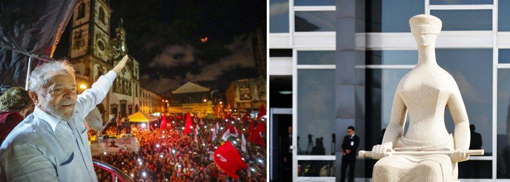 """""""A liminar concedida pelo STF que garante liberdade a Lula ao menos até 4 de abril, quando será julgado o mérito do habeas corpus preventivo é uma espécie de habeas corpus provisório. Ele esvaziou a autoridade que o TRF-4 se outorgou de determinar o momento da prisão de Lula, transformando o julgamento do dia 26 próximo que seria decisivo e poderia prender o ex-presidente em mais uma etapa do processo sem consequências imediatas"""", escreve o articulista Alex Solnik"""