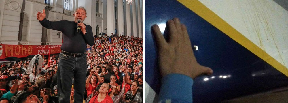 """""""A revelação de que um dos ônibus da caravana do ex-presidente Lula foi alvejado por tiros quando passava por uma estrada do Paraná – de fato teriam sido dois ônibus – é o sintoma mais evidente de que a radicalização política chegou ao seu extremo e que as autoridades da segurança pública estão perdendo o controle da situação com sérias ameaças às eleições de outubro"""", diz o colunista Carlos Lindemberg; """"A violência começa com o discurso, depois passa para a manifestação material, finalmente chega à agressão e alcança o seu limite com o uso de armas de fogo"""""""
