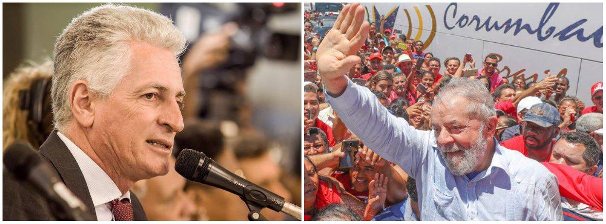 """Às vésperas do julgamento do Habeas Corpus do ex-presidente Lula pelo STF que ocorre nesta quarta-feira (4), o deputado estadual Rogério Correia (PT) afirmou nesta terça (3) que prendeu o seu correligionário, """"sem provas e sem esgotar o direito de defesa como determina a Constituição, será o AI 5 do golpe jurídico/midiático""""; """"À partir daí e tendo o presidente mais popular da história do Brasil como preso político, vale a desobediência civil!"""", escreveu o parlamentar em sua conta no Facebook"""
