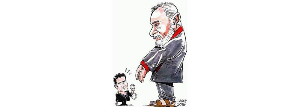 Moro manda prender Lula. A charge é de 2016, mas vale para o dia de hoje