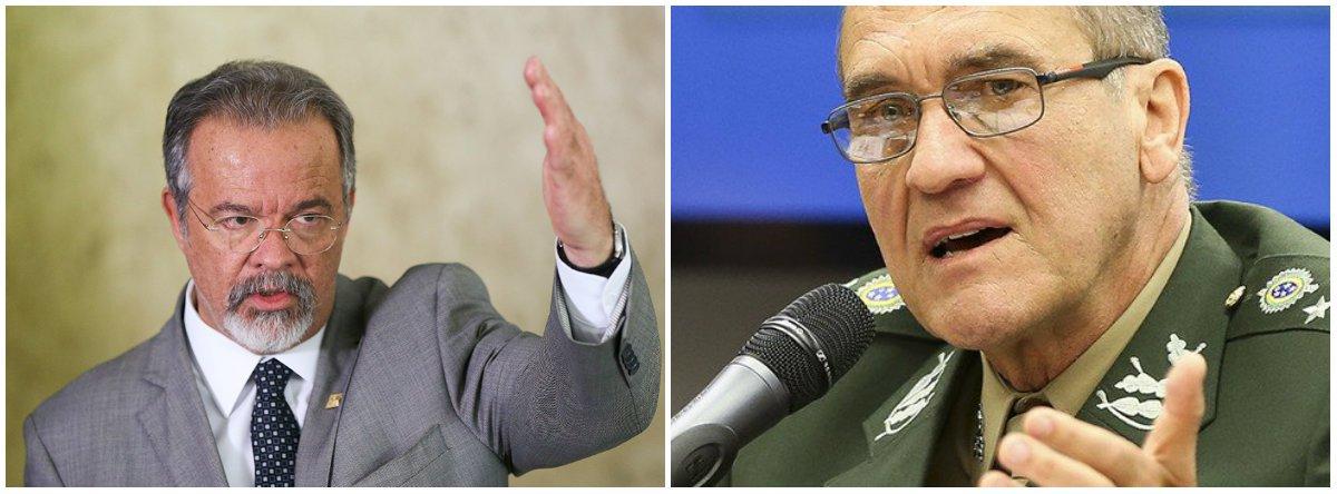 """O ministro da Segurança Pública, Raul Jungmann, comentou n as declarações de """"repúdio à impunidade"""" do comandante do Exército, general Eduardo Villas Boas; Jungmann afirmou que o texto postado nas redes sociais traz uma mensagem de serenidade e legalidade;""""De zero a 10, a chance é menos 1. Não há a menor possibilidade. As Forças Armadas são um ativo democrático hoje. Fora da Constituição e do jogo democrático, não há caminho no Brasil"""", acrescentou"""