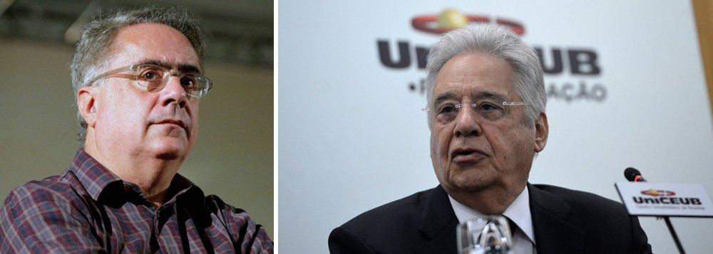 """Para o jornalista Luis Nassif, o ex-presidente Fernando Henrique Cardoso """"talvez seja a expressão máxima da mediocridade do pensamento político nacional""""; """"Agora, publicou um livro com o que áulicos denominam de seu pensamento vivo. O tal pensamento vivo nada mais é do que uma compilação dos princípios originais, que supunha-se guiariam o PSDB, acrescido do componente moral"""", ressalta; para ele, """"a tentativa de colocá-lo como contraponto a Lula, é a prova maior da inviabilidade de um certo tipo de pensamento de direita"""""""