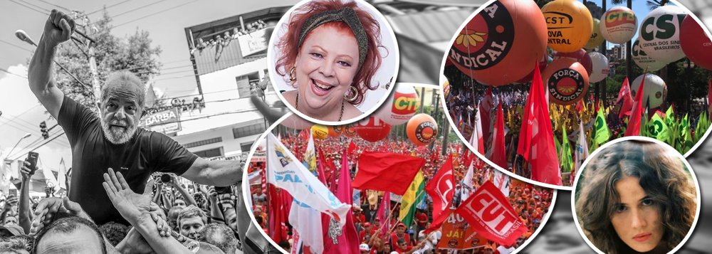 Pela primeira vez desde a redemocratização, as centrais sindicais farão um único ato pelo Dia do Trabalho, neste Primeiro de Maio; Curitiba, onde o ex-presidente Lula está preso, será a capital do encontro entre CUT, Força Sindical,CTB, NCST, UGT, CSB e Intersindical, com foco em pautas como a liberdade de Lula e o protesto contra a reforma trabalhista do governo Michel Temer, que tem agravado o quadro de desemprego no País; Beth Carvalho, Ana Cañas, Maria Gadú e Renegado são alguns artistas confirmados