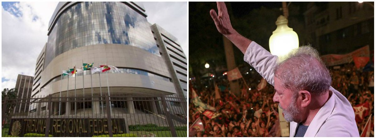 """""""A julgar pelas reportagens do G1 e Estadão, os desembargadores do Tribunal Regional Federal da 4ª Região levaram pouco mais de 10 minutos para rejeitar, por 3 votos a 0, os embargos de declaração apresentados pela defesa de Lula contra a sentença do caso triplex"""", diz texto publicado no Jornal GGN"""