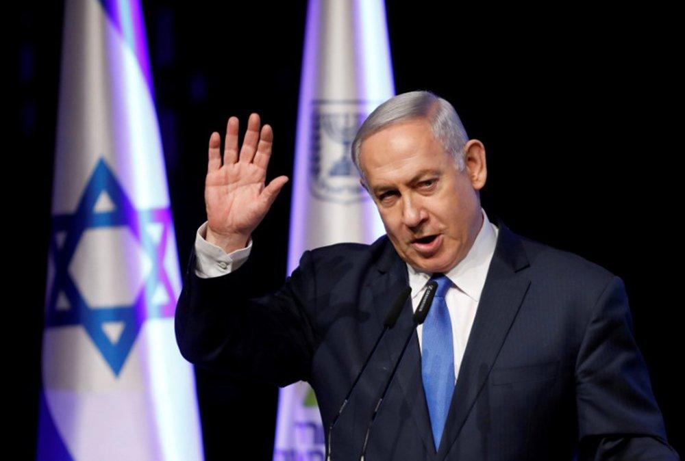 Primeiro-ministro israelense, Benjamin Netanyahu, durante conferência em Tel Aviv 27/03/2018 REUTERS/Amir Cohen