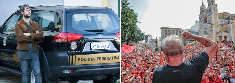 """Em discurso em Curitiba, no ato de encerramento de sua caravana, o ex-presidente Lula disse que a série de José Padilha foi """"mais uma mentira"""" que fizeram contra ele e o PT; """"Há anos eu já ouvia dizer que a Globo estava fazendo um documentário para passar na Netflix, para não aparecer a cara da Globo"""", disse; """"Nós não temos que aceitar isso, e eu não vou aceitar"""""""